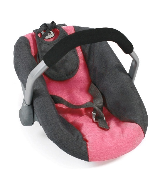 Poppen Autozitje Maxi Cosi stijl Melange Antraciet Pink