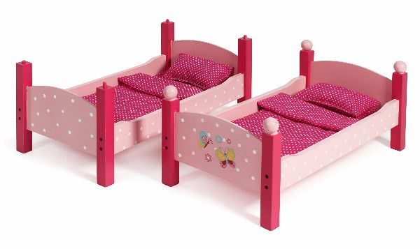 Kinderkamer Vlinder Compleet : Houten poppen stapelbed vlinder roze
