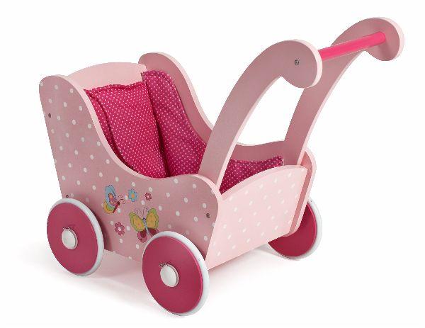 Kinderkamer Vlinder Compleet : Houten poppenwagen vlinder roze