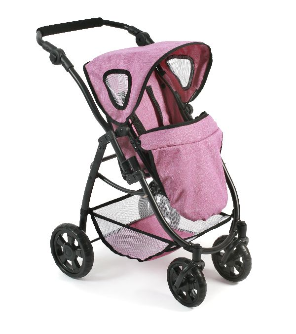 All in 1 Combi Poppenwagen Emotion Jeans Pink 63770
