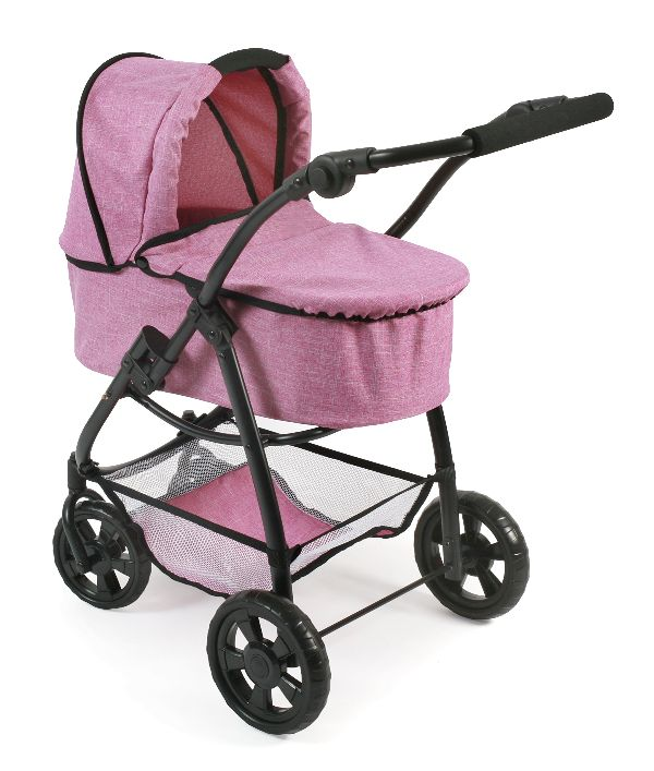 All in 1 combi poppenwagen Emotion Pink Jeans