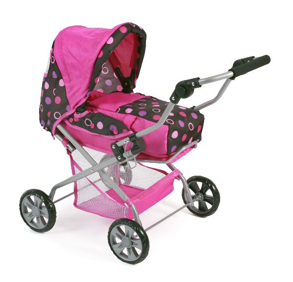 Luxe poppenwagen Piccolina Pinky Balls