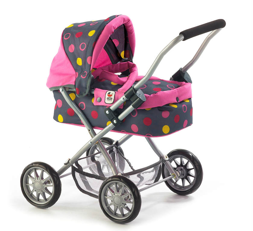 Poppenwagen Smarty Funny Pink