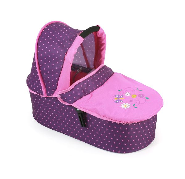 Combi Poppenwagen Emotion 2 in 1 met Reiswieg Dots Purple Pink 63840