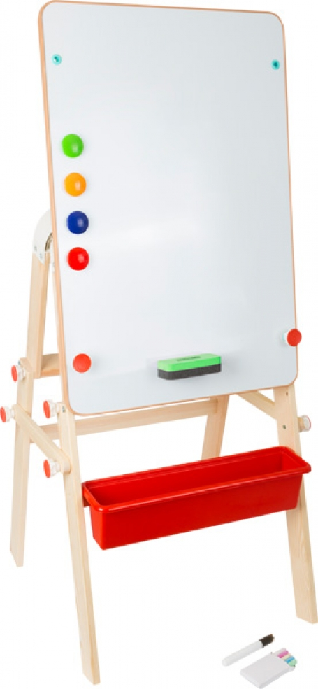 Small Foot - 4-in-1 tekenbord: magneetbord/-tafel of krijtbord/-tafel