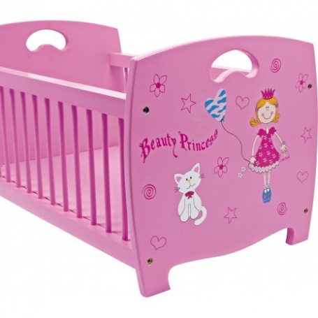 Houten poppenbedje Beauty Princess 5352