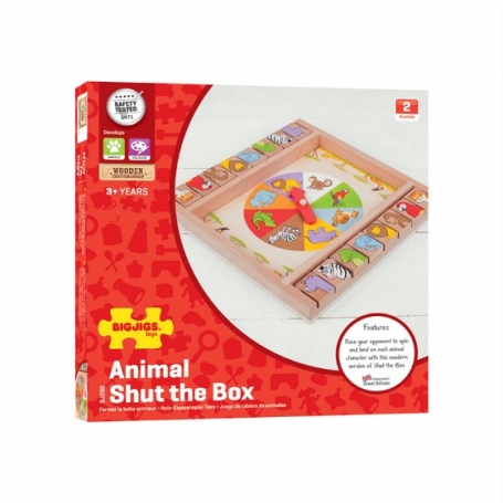 Dieren Shut the box Bigjigs
