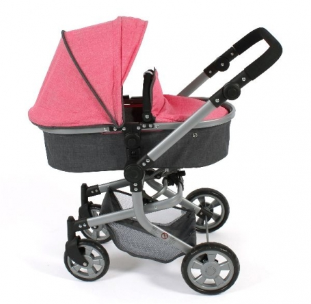Bayer Chic 2000 Combi Poppenwagen Mika Melance Anrazit Pink