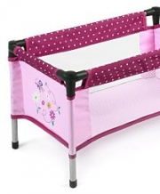 Bayer Chic 2000 - Poppen Campingbedje - Dots Brombeere