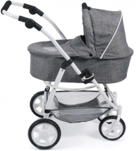 Combi poppenwagen Emotion 2 in 1 met reiswieg - Grey Jeans