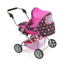 Luxe Poppenwagen Piccolina Pinky Balls 55748