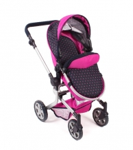 Bayer Chic 2000 - Combi poppenwagen Mika - Dots Navy Pink