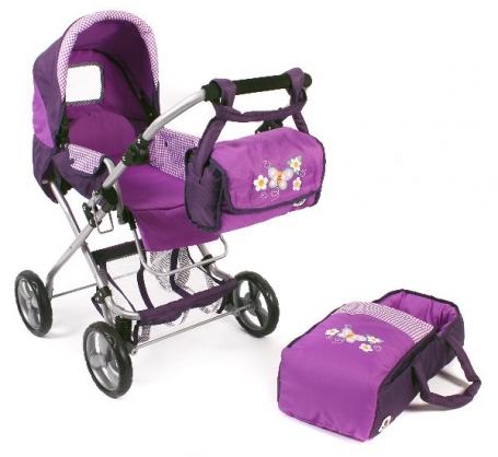 Poppenwagen Bambina Purple Checker