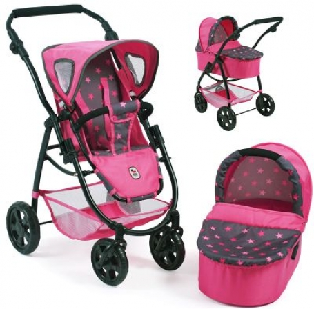 Combi Poppenwagen Emotion 2 in 1 Sterren Pink