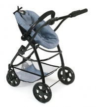All in 1 Combi Poppenwagen Emotion Jeans Bleu 63750