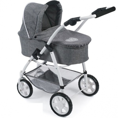 All in 1 Combi Poppenwagen Emotion Grey Hearts