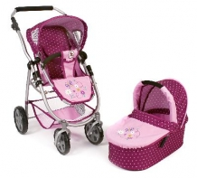 Combi Poppenwagen Emotion 2 in 1 Dots Brombeere 63829