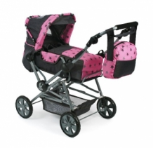 Bayer Chic 2000 - Luxe grote poppenwagen Road Star - Stars Grijs