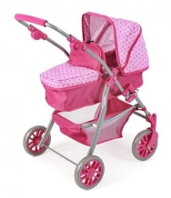 Chic 2000 Poppenwagen Speedy 2 in 1 Dots Pink