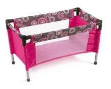 Bayer Chic 2000 - Poppen Campingbedje - Hot Pink Pearls