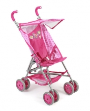 Bayer Chic 2000 - Poppenwagen Buggy Vita - Dots Pink