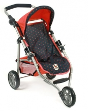 Poppenwagen Jogger Lola Dots Koralle 61211