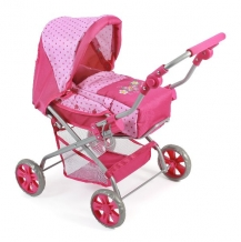 Luxe Poppenwagen Piccolina Dots Pink