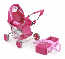 Luxe Poppenwagen Piccolina Dots Pink 55731