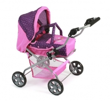 Luxe Poppenwagen Piccolina Dots Purple Pink