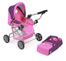Luxe Poppenwagen Piccolina Dots Purple Pink 55740