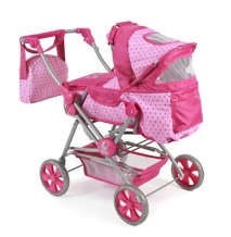Poppenwagen Road Star Dots Pink