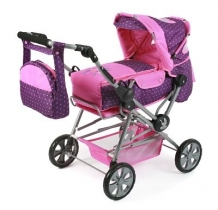 Poppenwagen Road Star Dots Purple