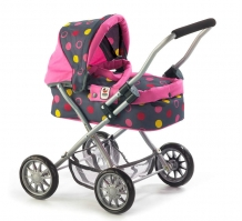 Poppenwagen Smarty Funny Pink 55524